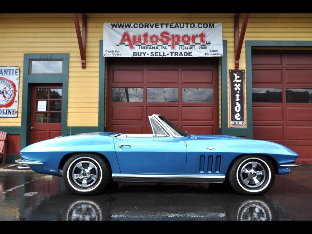 1966 Chevrolet Corvette Nassau Blue/Blue-White #'s Matching Conv RARE!