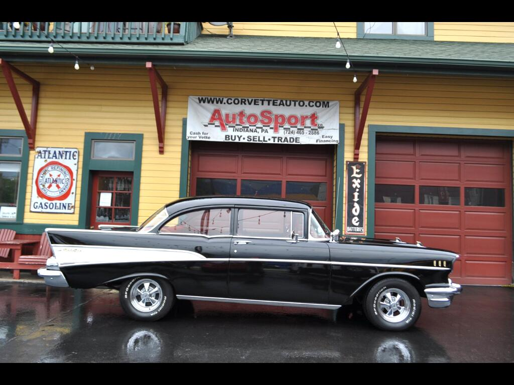 1957 Chevrolet Bel Air Black Red Color Combo!