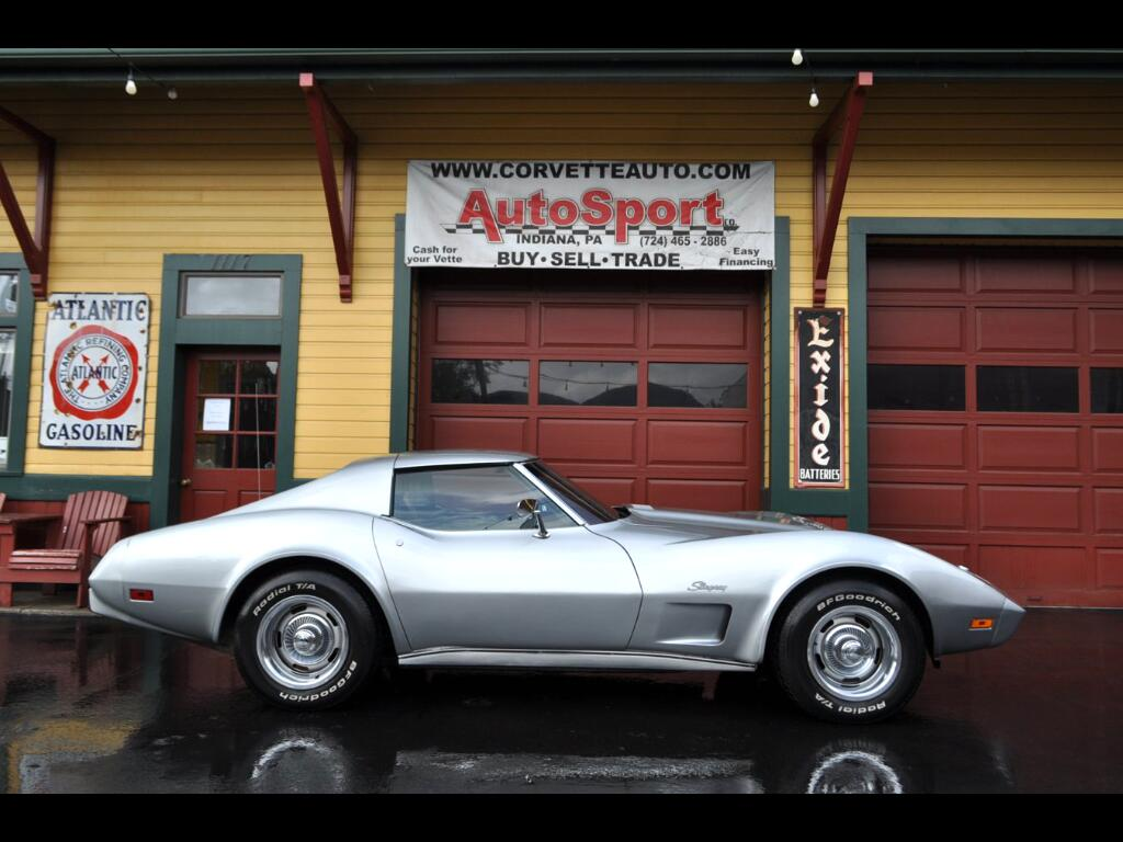 1975 Chevrolet Corvette Original #'s Matching Silver/Red Coupe