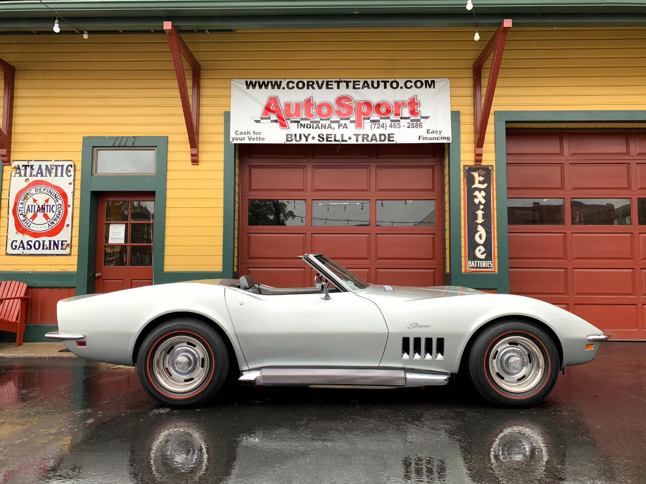 1969 Chevrolet Corvette Cortez Silver Convertible 350hp 4sp Side Exhaust