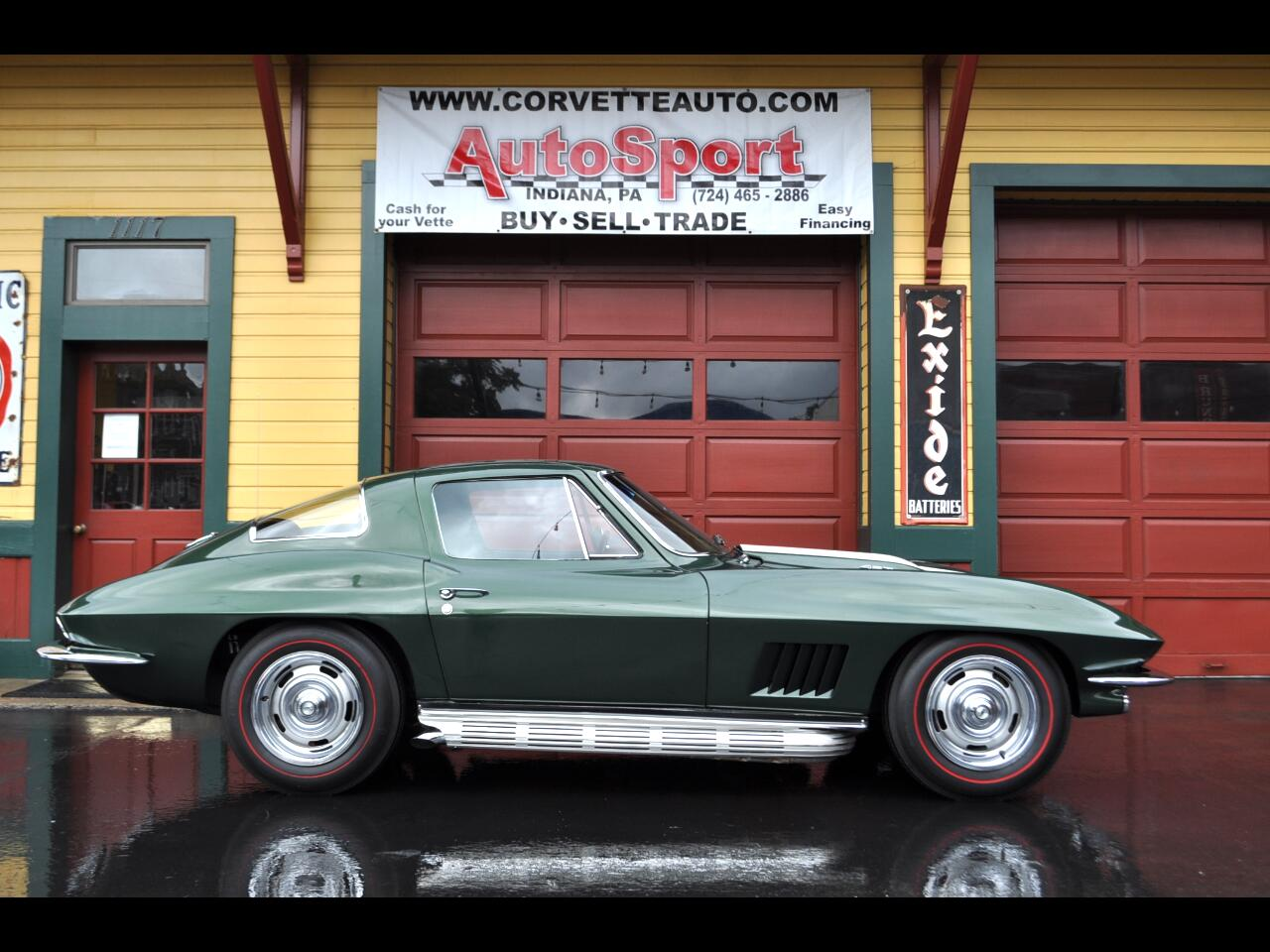 1967 Chevrolet Corvette Goodwood Green Tan 427ci 390hp 4sp Big Block!