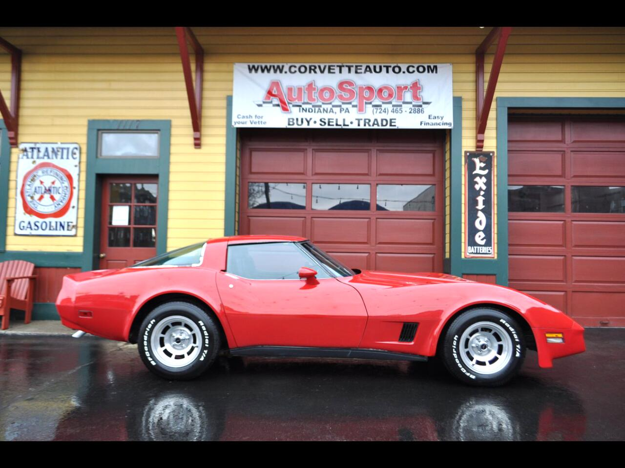 1981 Chevrolet Corvette Extremely Rare Colors Red/Blue Interior!