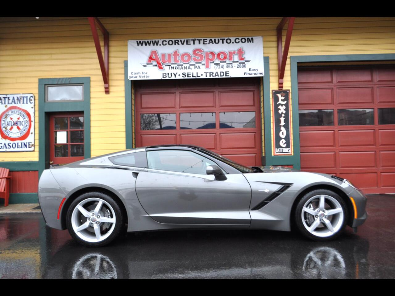 2015 Chevrolet Corvette 1 Owner Shark Gray 10k Miles Clean Car Fax!!