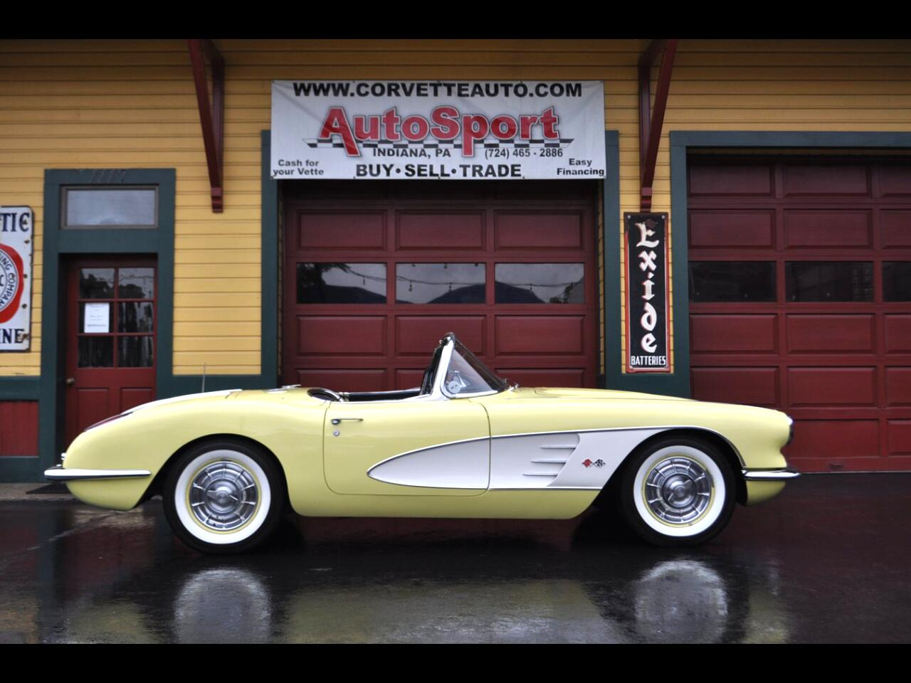 1958 Chevrolet Corvette Extemely Rare Panama Yellow 1958 Corvette!