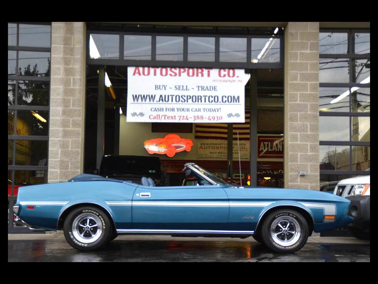 1973 Ford Mustang 2-Door Convertible 302 V8 w/Auto Tranmission