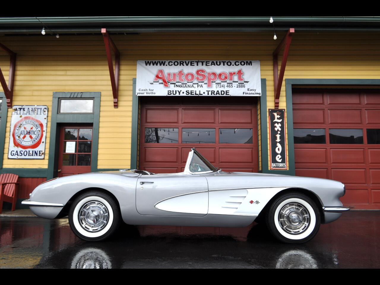 1959 Chevrolet Corvette 270hp 2x4's Frame Off Restored!