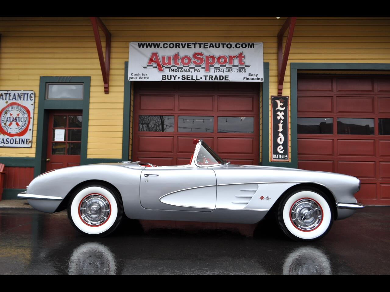 1959 Chevrolet Corvette Inca Silver Red Interior Beautifully Restored Road