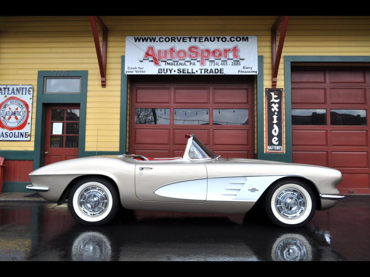 1961 Chevrolet Corvette Extremely Rare Fawn Beige/Red 270hp 4sp!