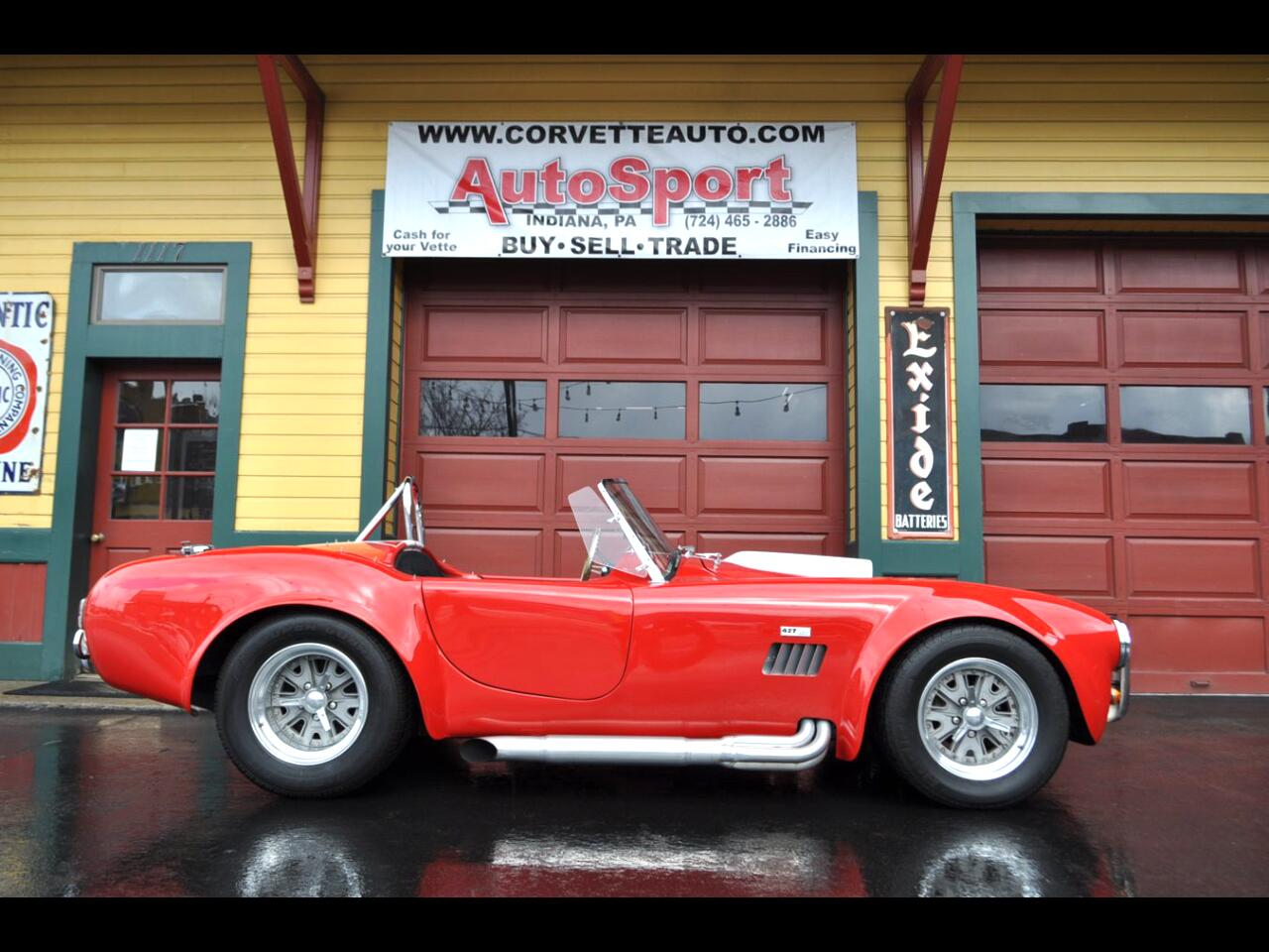 1966 Cobra Custom Rangood Red/White Stripes AC Cobra 427ci Big Block