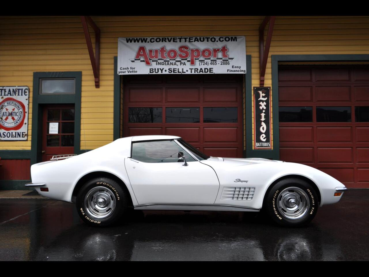 1972 Chevrolet Corvette 1972 #'s Matching 454 4sp AC PS PB PW Leather Full