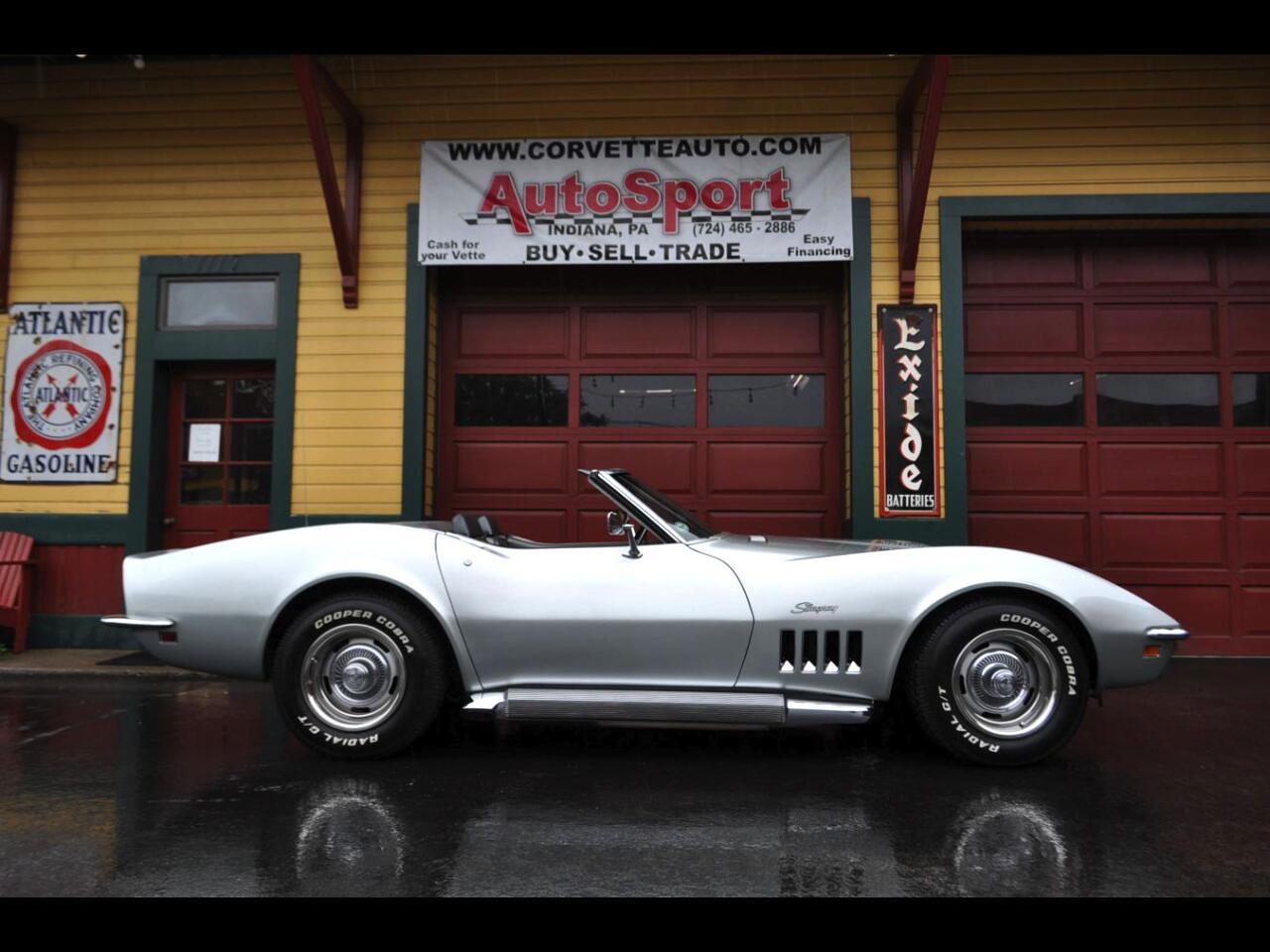 1969 Chevrolet Corvette 1969 Cortez Silver 350hp #'s Match Side Pipes 4sp