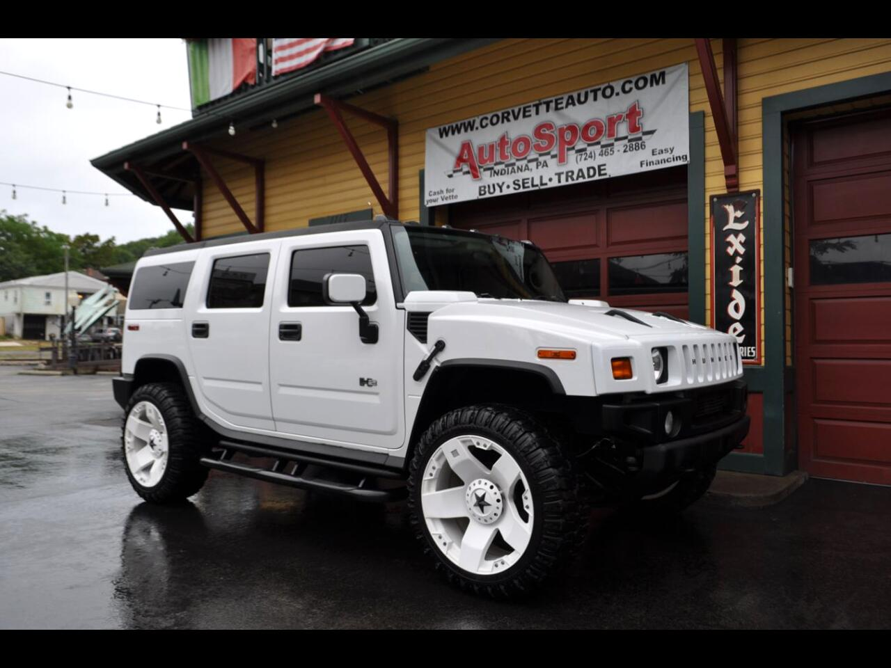 2003 HUMMER H2 H2 Custom 24' Custom XD White Wheels!
