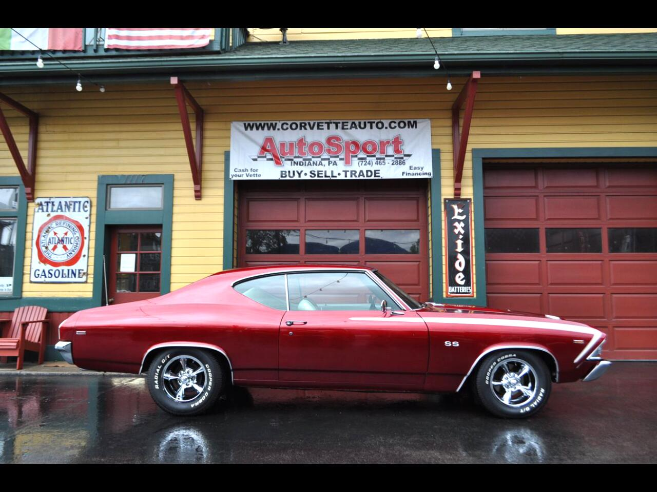 1969 Chevrolet Chevelle Frame Off Restored Cranberry Red/Pearl White 4sp A
