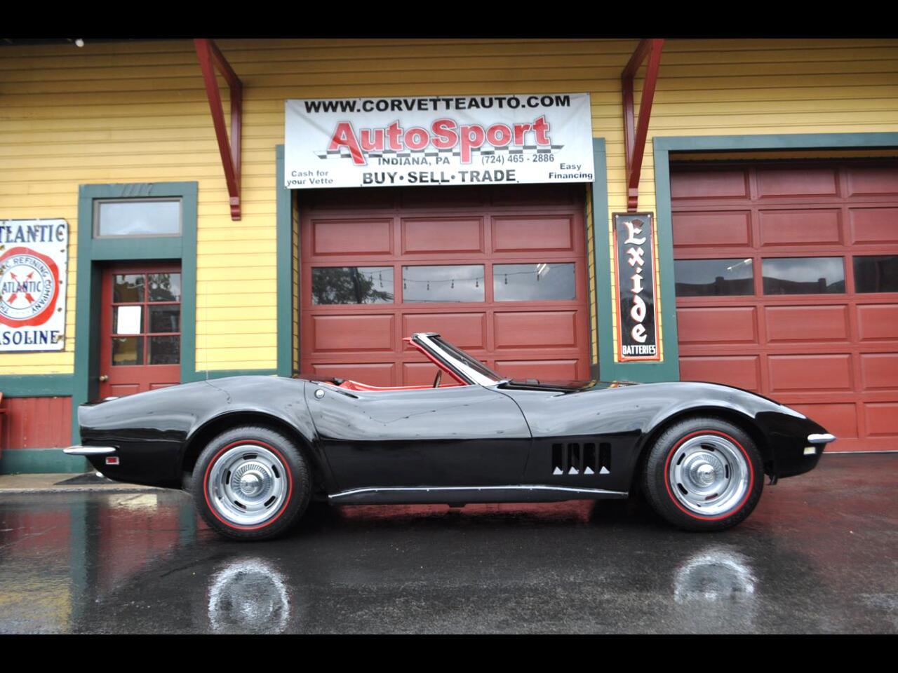 1968 Chevrolet Corvette Extremely Rare Tuxedo Black/Red 350hp #'s Matching