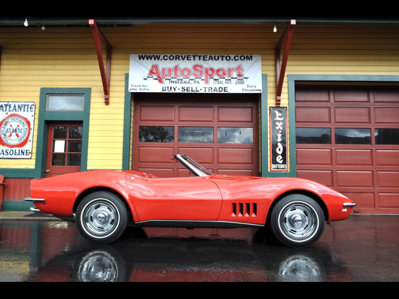 1968 Chevrolet Corvette 1968 #'s Matching 350hp Red/Red Org Docs Org Paint