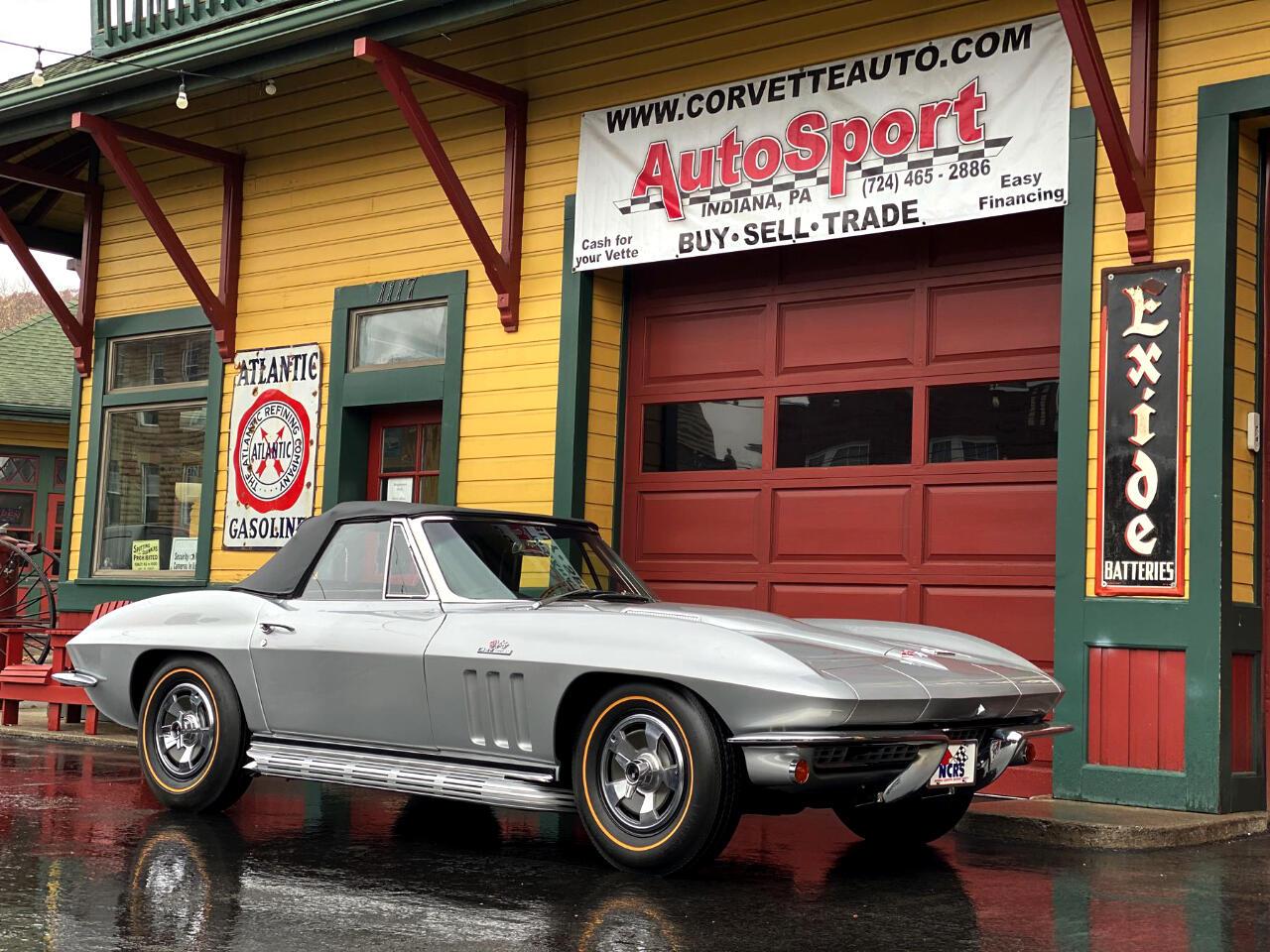 1966 Chevrolet Corvette Silver Pearl 427/425hp Fame Off Restoration Conv.