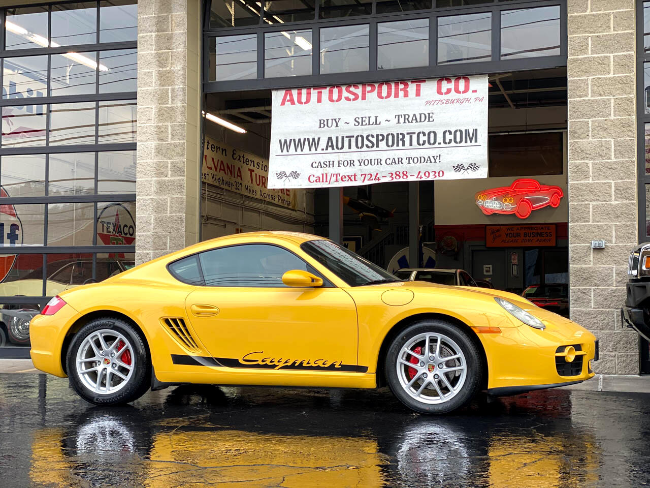 2007 Porsche Cayman Speed Yellow ~ 29K Miles ~ Rear Wiper Option !!