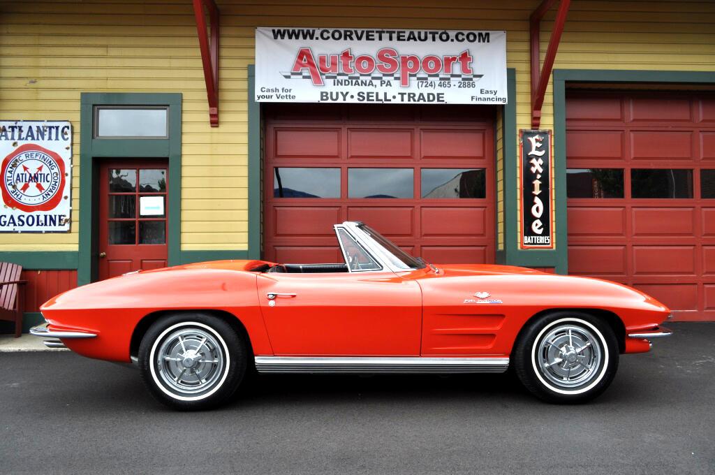 1963 Chevrolet Corvette 360hp Fuelie #'s Match Riverside Red