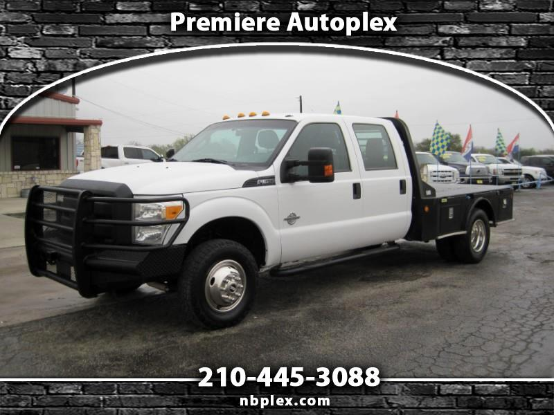 2014 Ford F-350 SD Crew Cab DRW Flatbed Dually 4x4 6.7L Powerstroke D