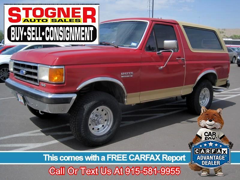 1991 Ford Bronco EDDIE BAUER