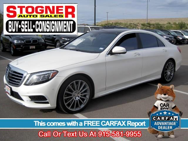Used 2015 Mercedes Benz S Class For Sale In El Paso, TX 79922 Stogner Auto  Sales
