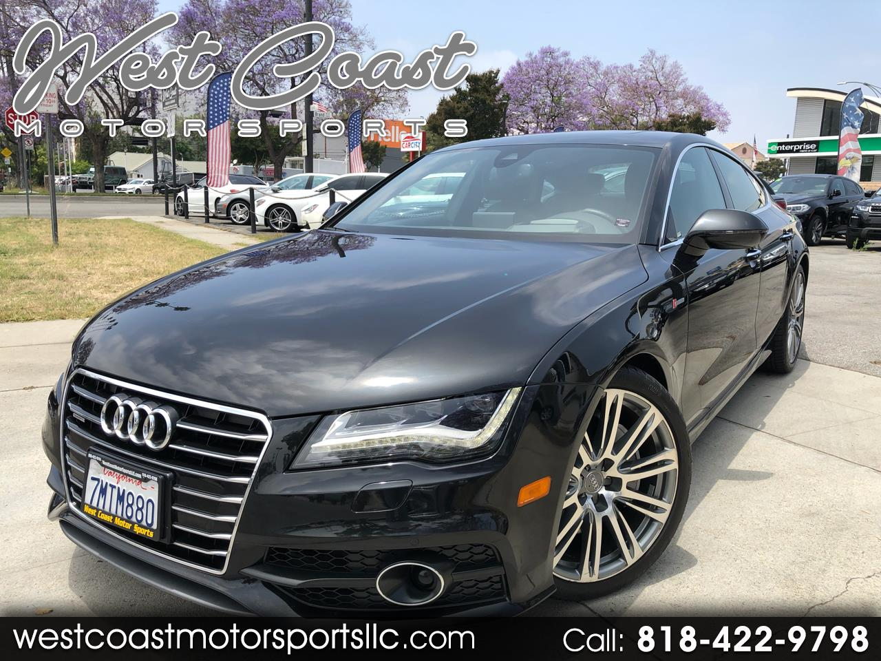 2012 Audi A7 3.0T Prestige sedan Quattro. Heads Up Display, Nig