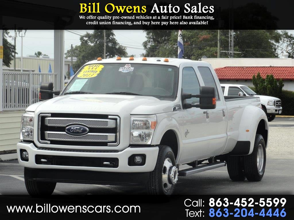 "2013 Ford Super Duty F-350 DRW 4WD Crew Cab 172"" Platinum"