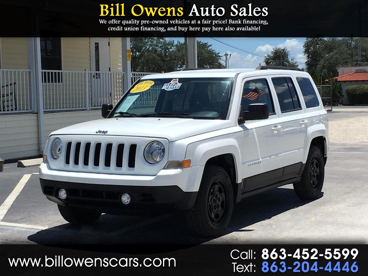 Jeep Patriot FWD 4dr Sport 2013