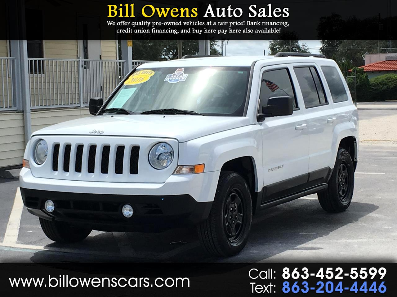 2016 Jeep Patriot FWD 4dr Sport