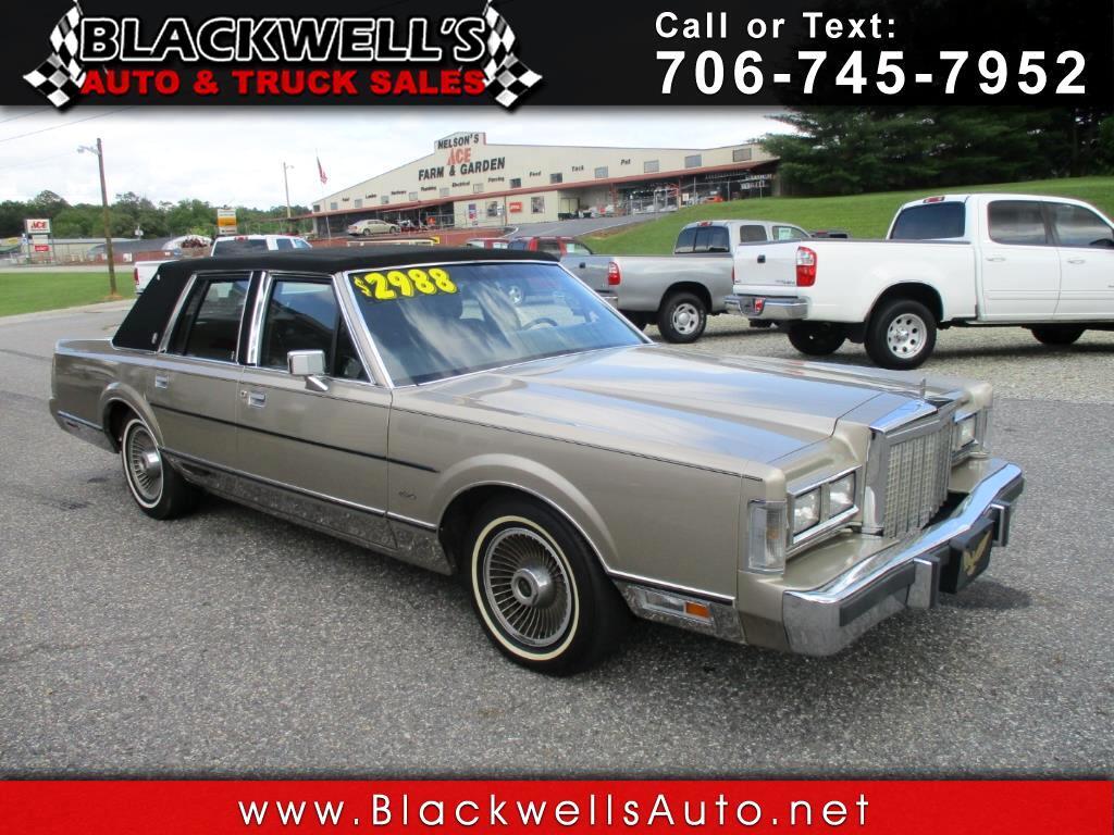 1987 Lincoln Town Car 4dr Sedan Signature