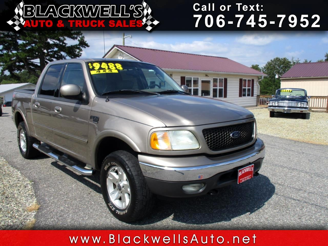 "2003 Ford F-150 4WD SuperCrew 139"" Lariat"