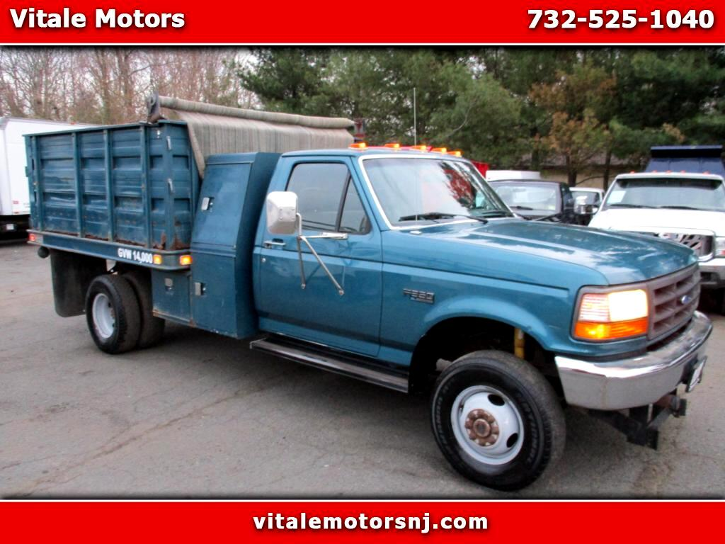 1995 Ford F-350 4X4 GRAIN BODY DUMP TRUCK!