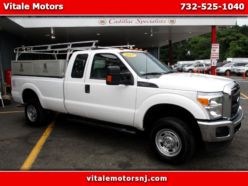 2014 Ford F-250 SD SUPER CAB 4X4 W/ SIDE BOXES LADDER RACK