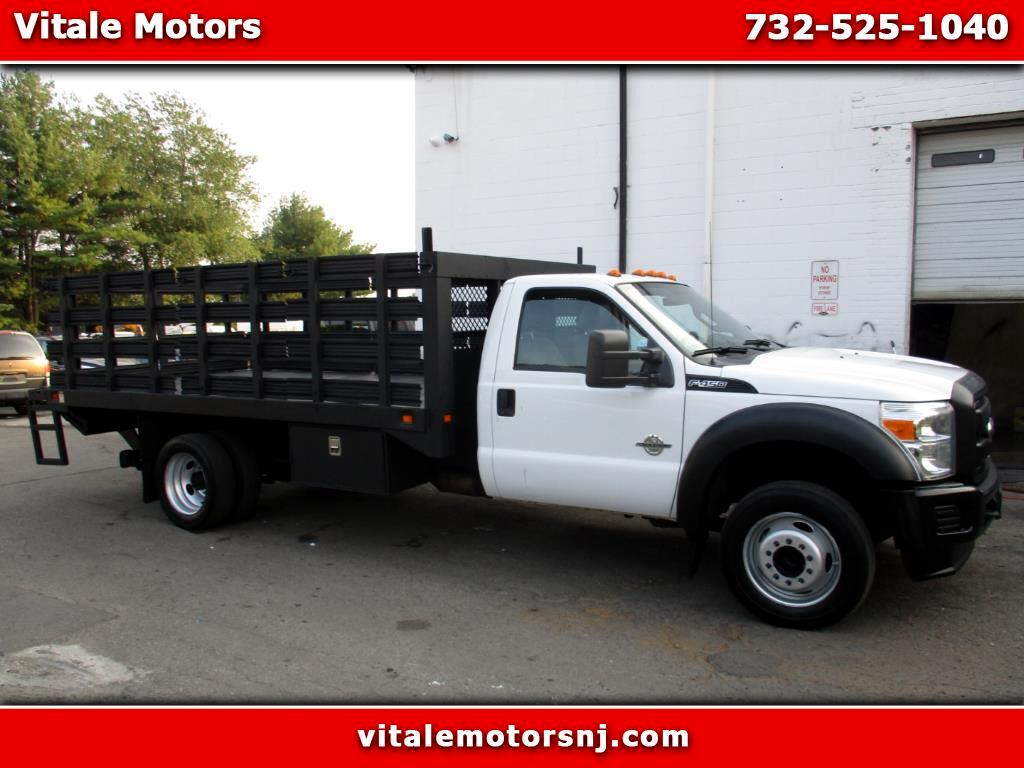 2012 Ford F-450 SD 13 FOOT FLAT DECK - RACK W/ LIFTGATE DIESEL
