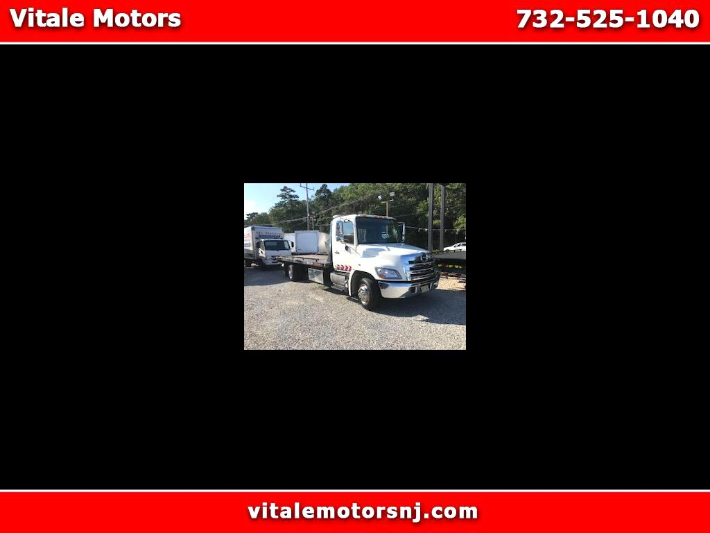2015 Hino 268A 21 FOOT ROLL BACK FLAT BED JERR DAN