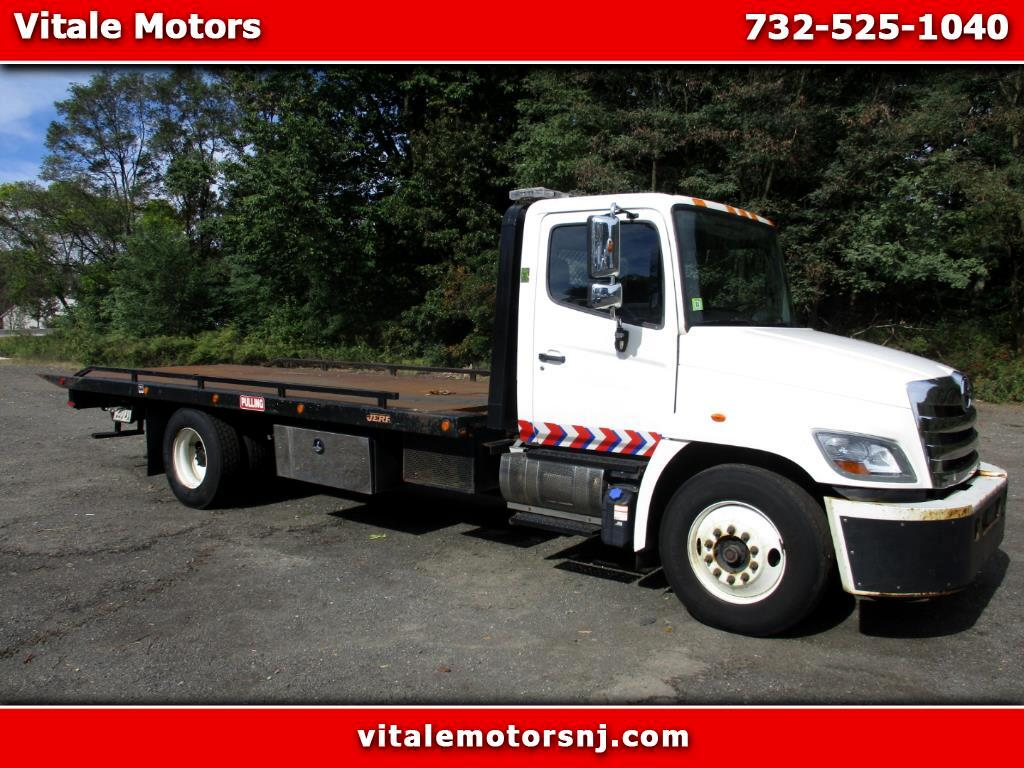 2015 Hino 268 22 FOOT JERR DAN FLATBED WHEEL LIFT