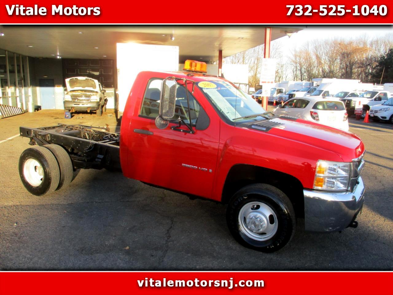 2007 Chevrolet Silverado 3500HD 4X4 CAB & CHASSIS (fisher) SNOW PLOW READY!