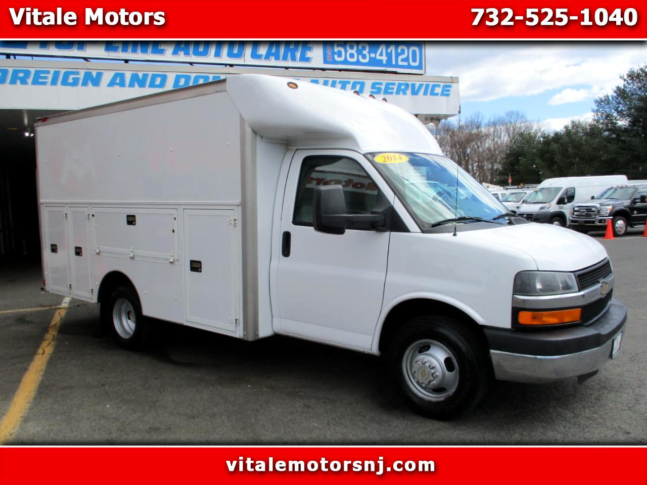 2014 Chevrolet Express G 3500 12 FOOT ENCLOSED UTILITY BODY
