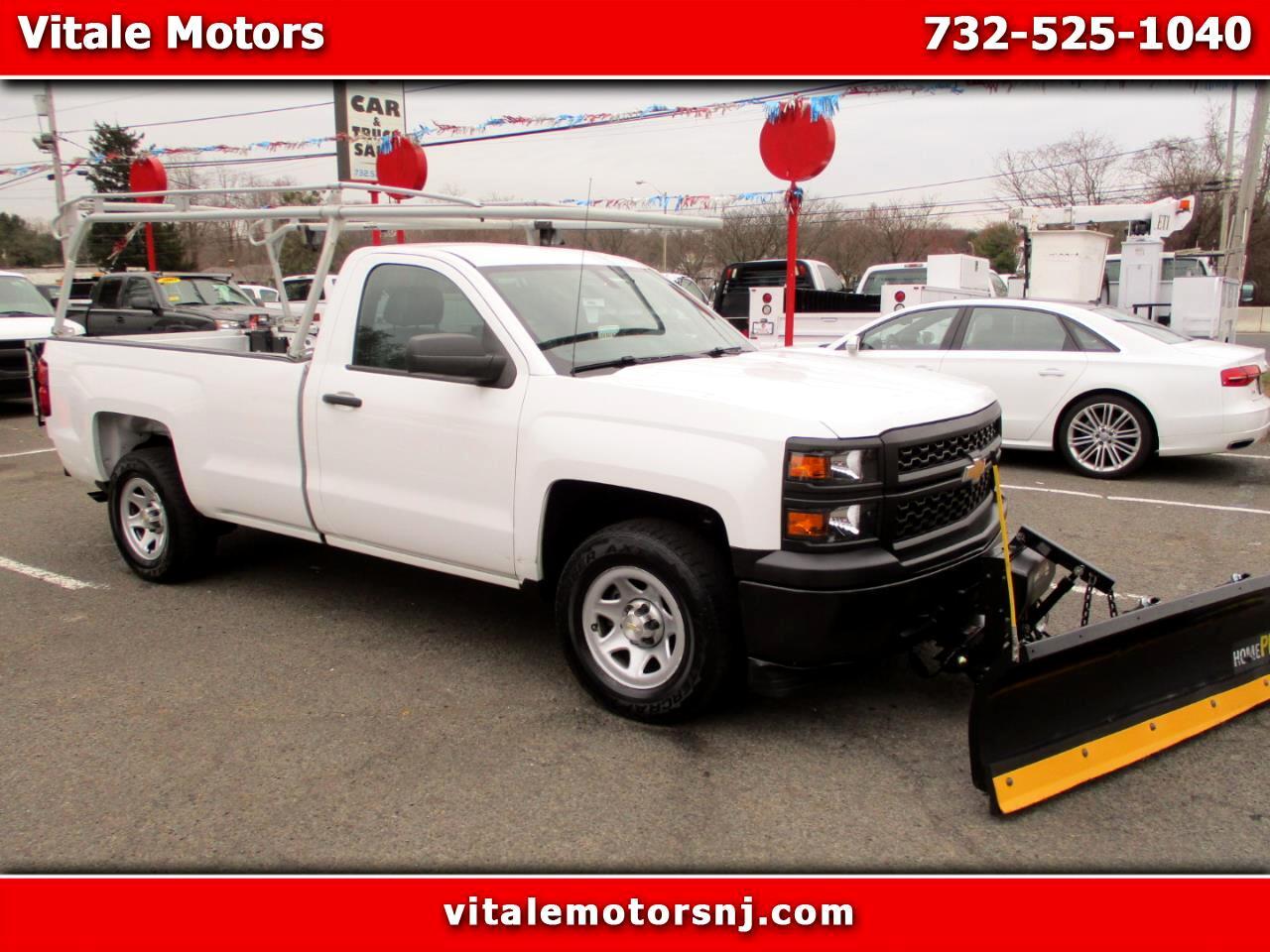 2014 Chevrolet Silverado 1500 REG. CAB LONG BED W/ LIFT GATE, LADDER RACK & SNOW