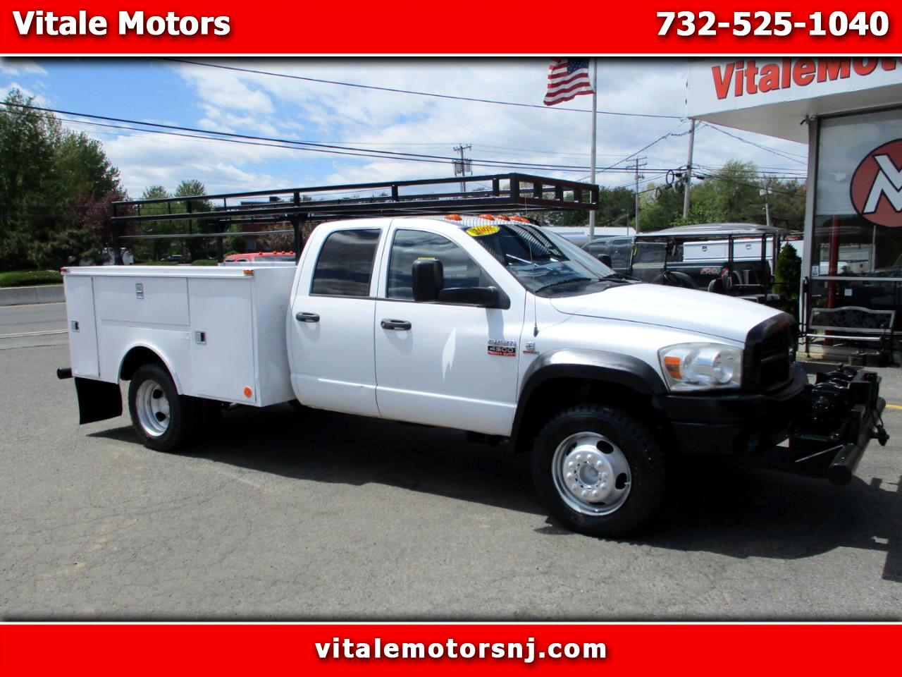 2008 Dodge Ram 4500 QUAD CAB 4X4 DRW UTILITY BODY MANUAL TRANS, DIESEL