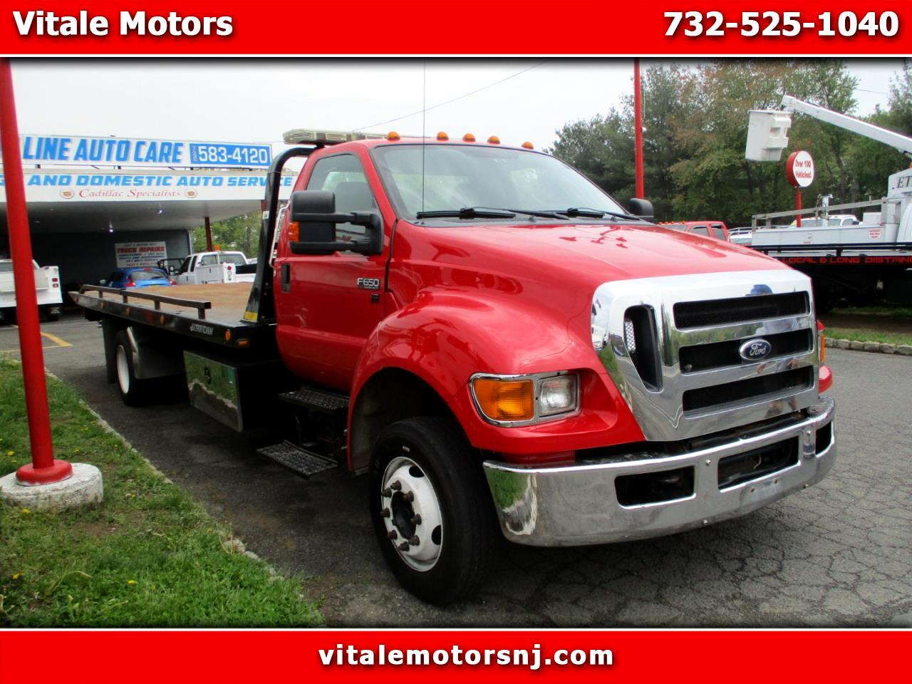 2012 Ford F-650 21 FOOT JERR DAN FLAT BED / TOW TRUCK
