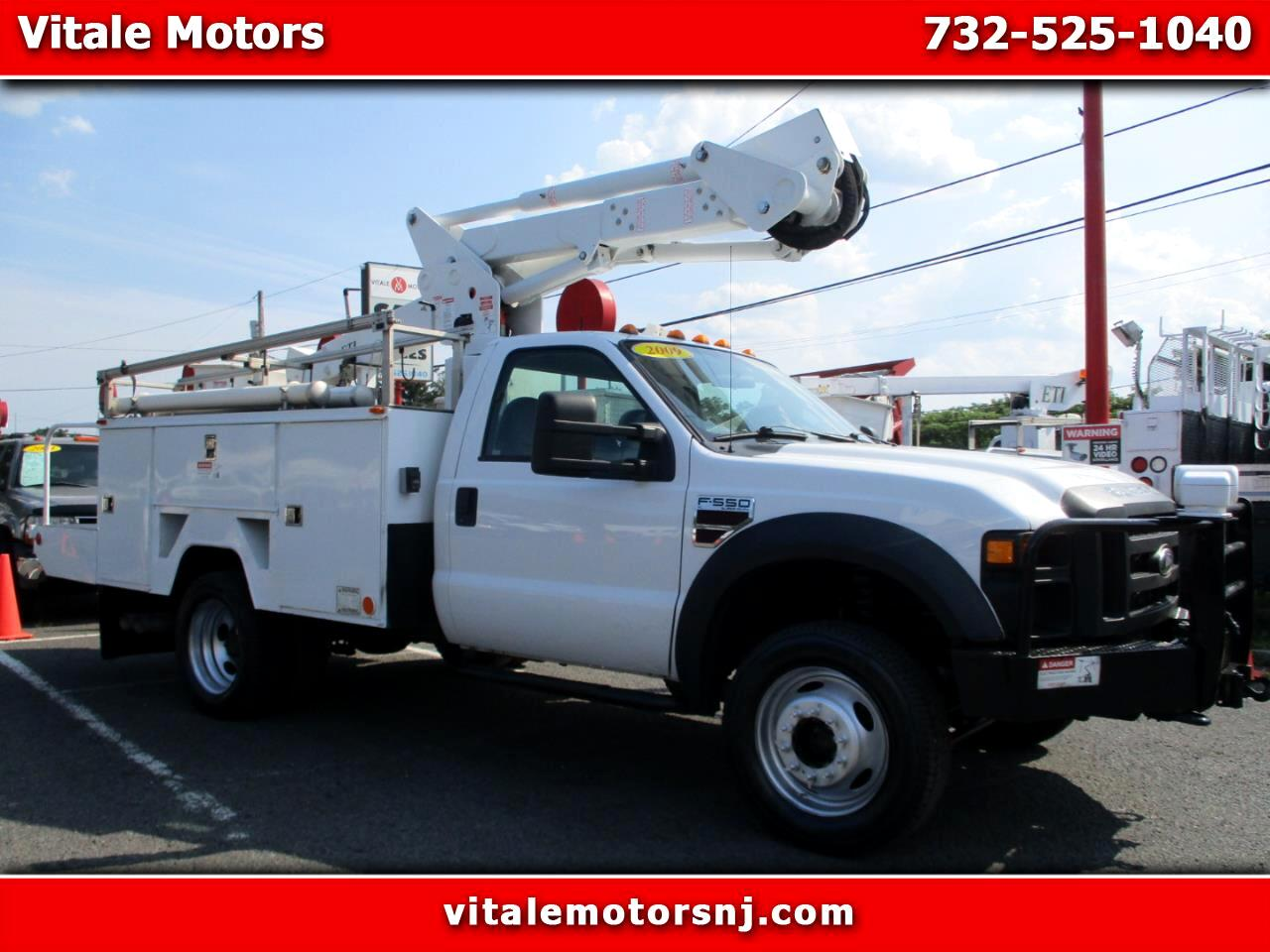2009 Ford F-550 42' INSULATED BUCKET TRUCK 4X4 DIESEL 550