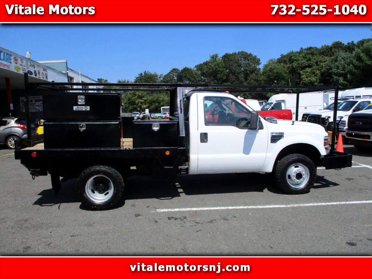 2010 Ford F-350 SD 9 FOOT FLAT DECK W/ BOXES & RACK 4X4