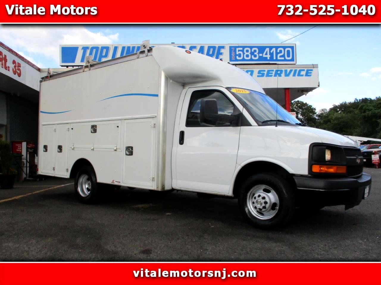 "2015 Chevrolet Express G3500 139""WB UTILITY BOX TRUCK 12 FOOT SUPREME BOX"
