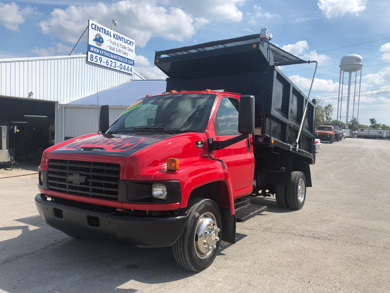 "2003 Chevrolet C4500 10"" ox high side dump"