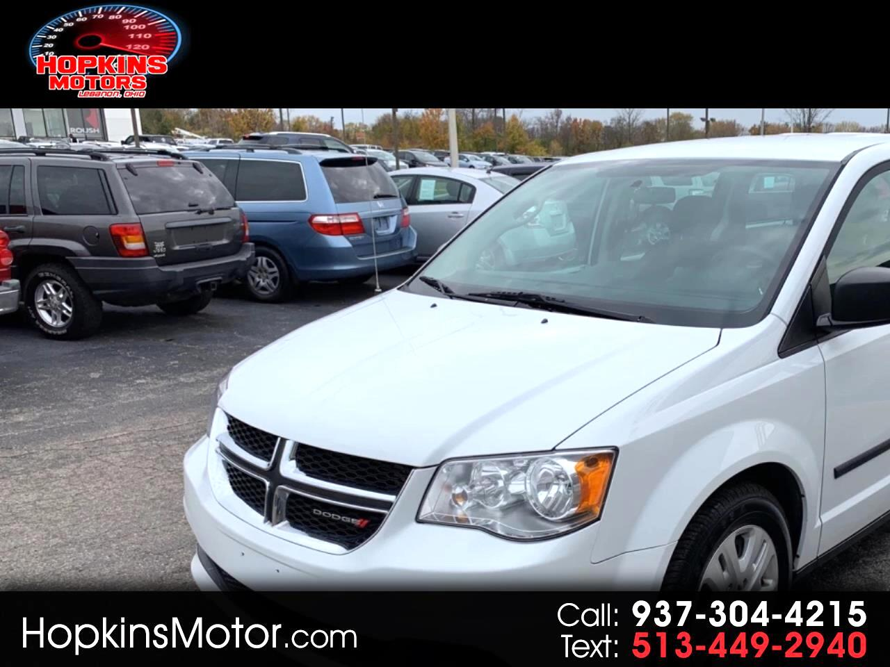 2015 Dodge Grand Caravan 4dr Wgn American Value Pkg