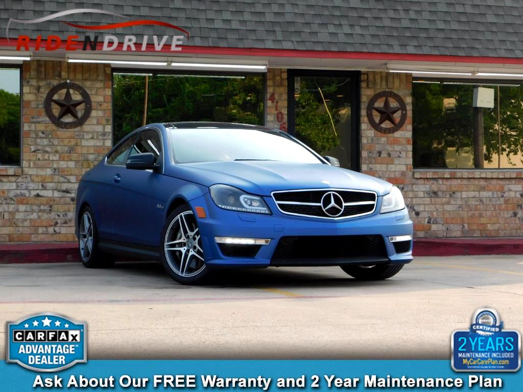 2012 Mercedes-Benz C-Class 2dr Cpe C 63 AMG RWD