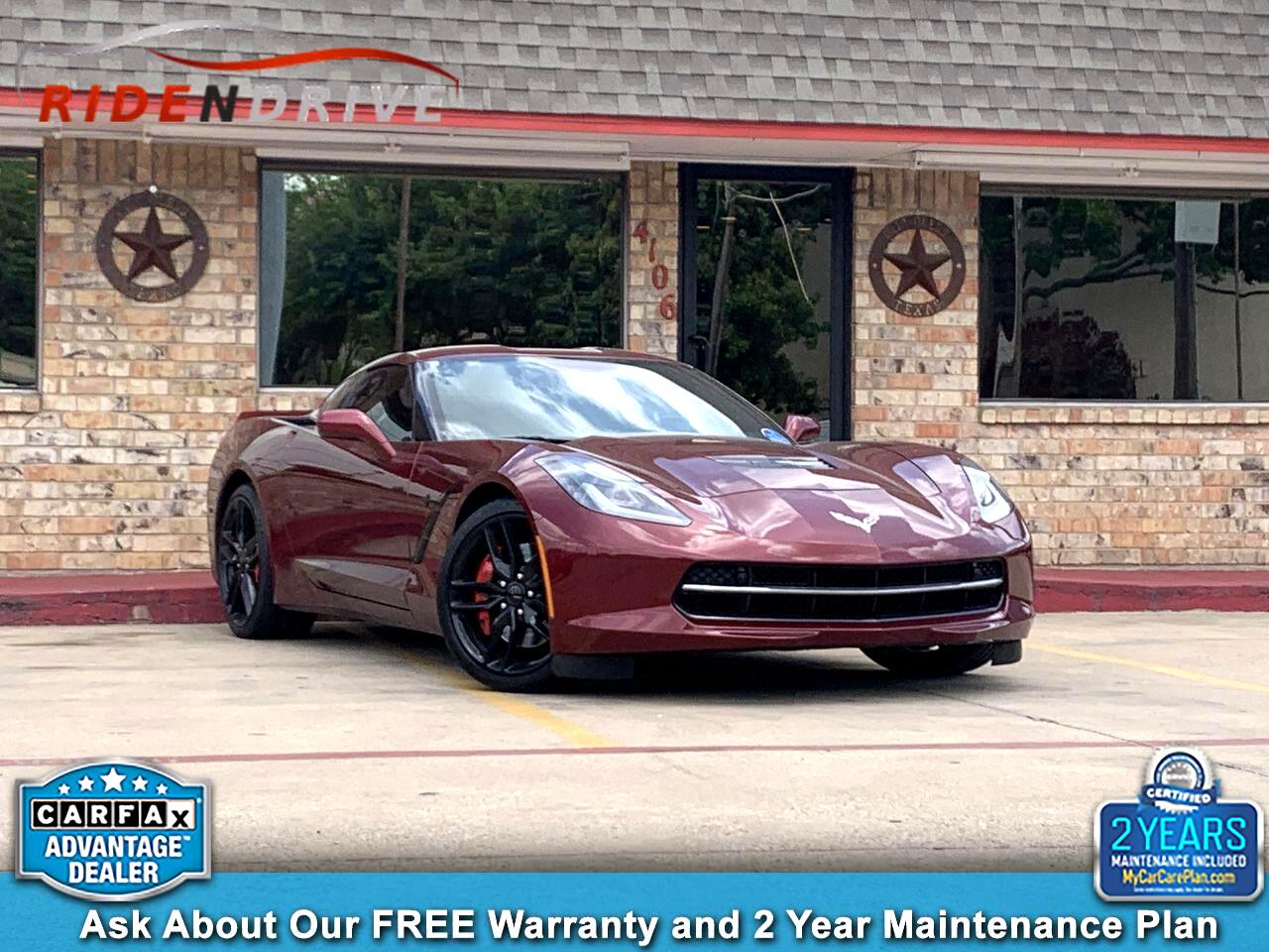 2016 Chevrolet Corvette 2dr Stingray Z51 Cpe w/3LT