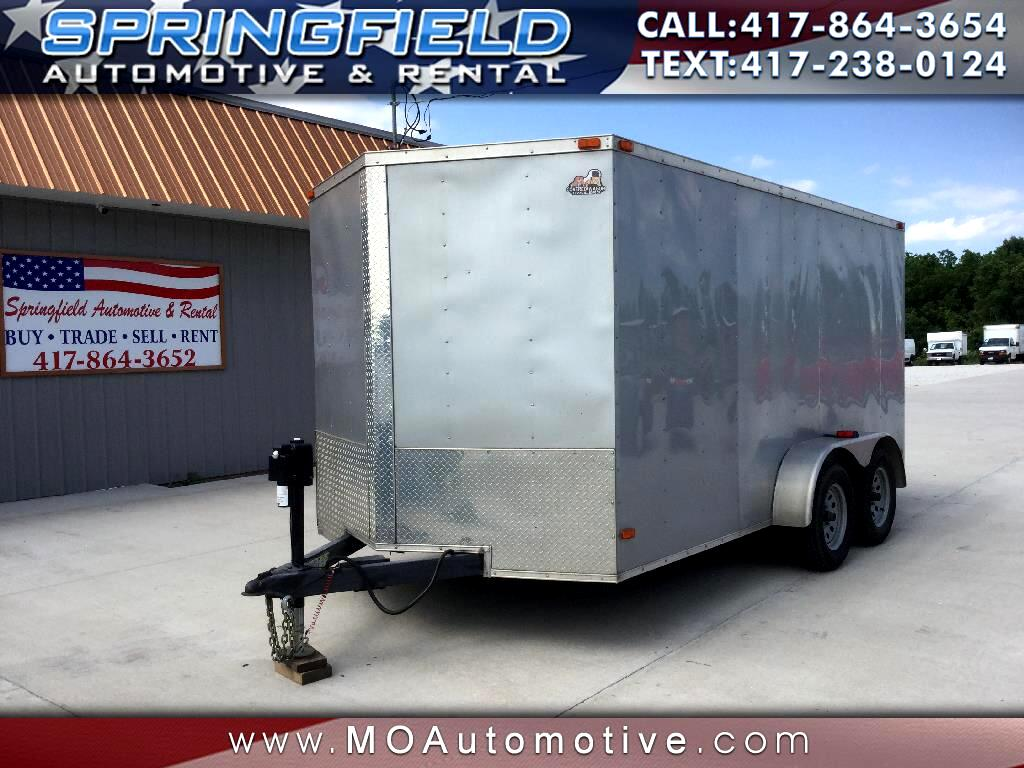 2013 Covered Wagon Cargo Trailer 14'x7'x6'