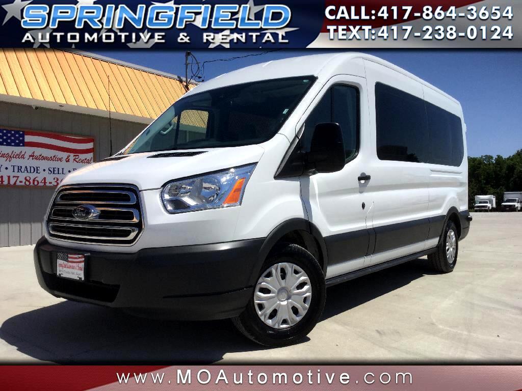 """2018 Ford Transit Passenger Wagon T-350 148"""" Med Roof XLT Sliding RH Dr. 15 Passenge"""
